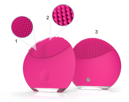 Foreo luna mini magenta touchpoints