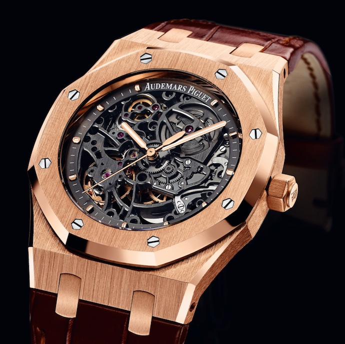 Audemars Piguet rose gold watch