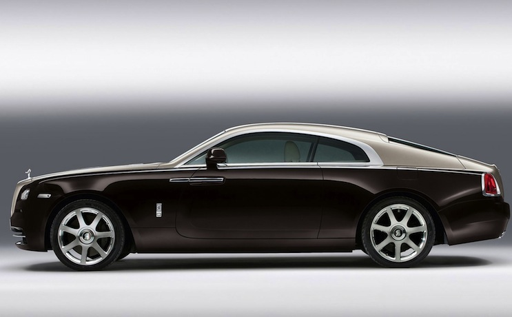 rolls royce wraith side on