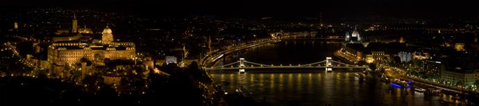 Sky view of budapest
