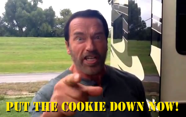 arnold says put that cookie down now