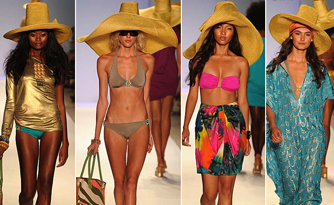 trina turk swimwear on the catwalk