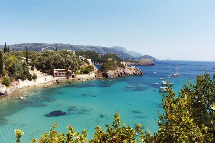 corfu's crystal clear waters