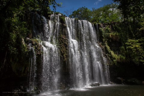 Waterfall in plains of cortes costa rica