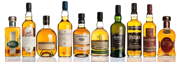 Malt whisky selection