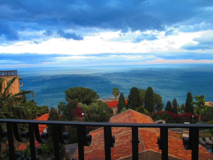 View of the Mediterranean after rain from Villa Carlotta