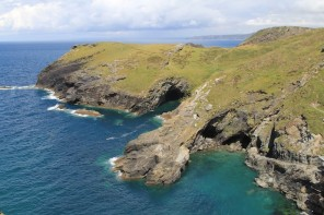 Tintagel coastline and view from the castle