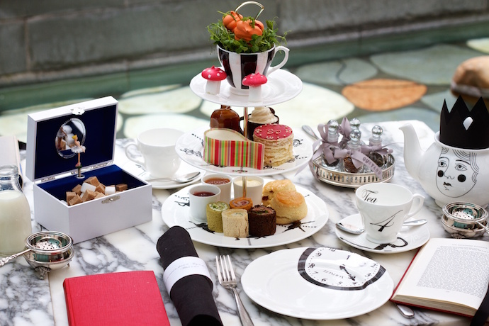 afternoon tea at the sanderson
