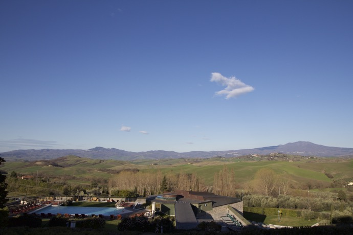 A view of the tuscan hills