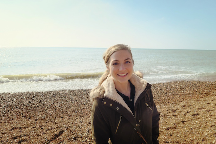 Emily on Brighton Beach