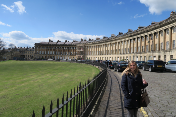 outside the royal crescent hotel bath spa